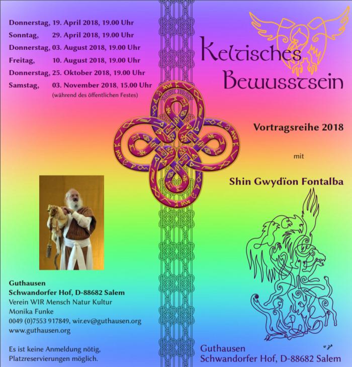 Vortrag zum keltischen Bewusstsein von Shin Gwydïon Fontalba