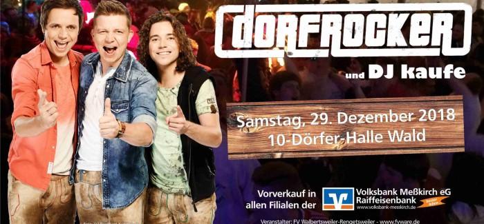29.Dezember – Die DORFROCKER live in Wald