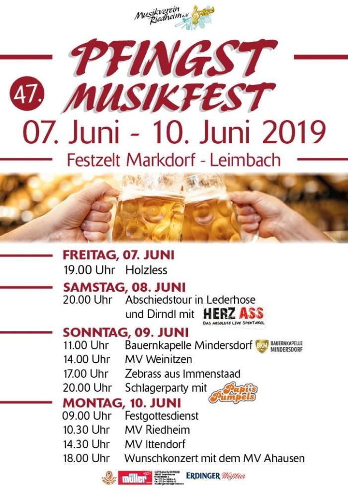 Pfingstmusikfest Musikverein Riedheim